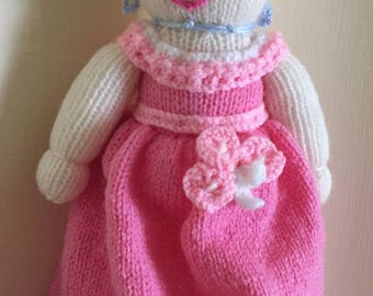 Hand Knitted Elegant Young Lady Doll (ALL proceeds to the Cystic Fibrosis Trust)