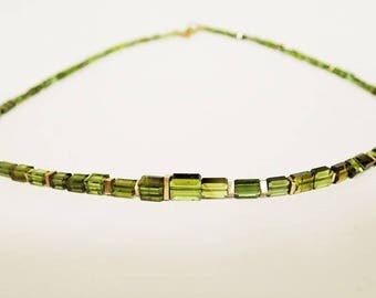 Chain Necklace Tourmaline Gold