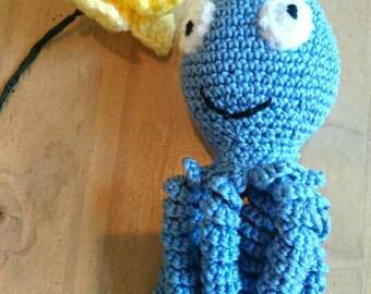 Crochet Octopus Comfort Toy for Babies