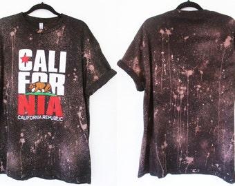 California Bear or Make your own t shirts bleached shirt S-2XL Bleached tee