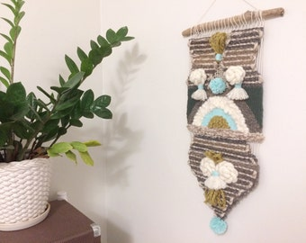 truman / woven wallhanging / wall weaving / tapestry
