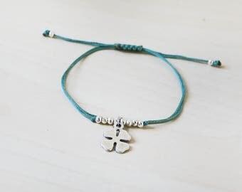 Clover bracelet, silver clover bracelet, four leaf clover, 4 leaf clover, lucky bracelet, good luck bracelet, clover, silver clover
