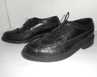 Vintage Mens Oxford Wingtip Shoes Crown Imperil Size 8.5 EEE
