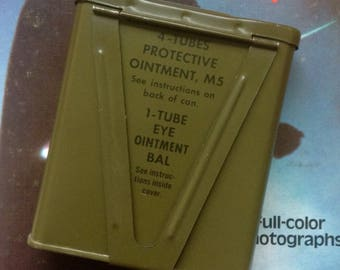 U.S. Military Vintage Protective Ointment Canister