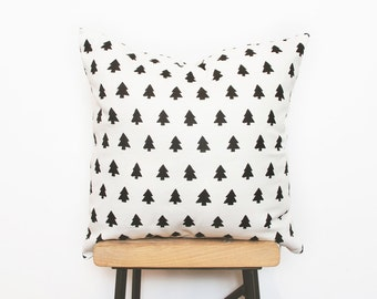 Cushion cover Minimalist home decor cushions with modern woodland tree print - Ready to ship