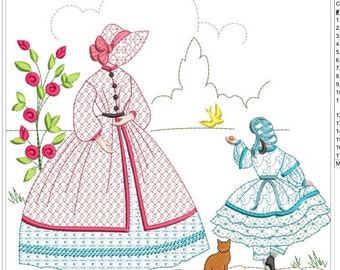 SOUTHERN BELLE machine embroidery download  4 diff sizes ( 3.4x3.4  5x5  6x6  7x7)