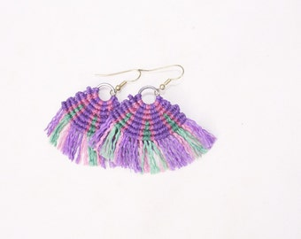 Macramé earrings earrings tribal