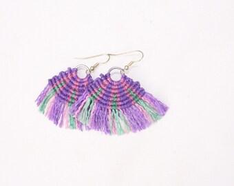 Macramé earrings earrings tribal