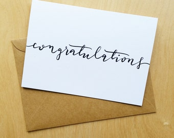 Congratulations - Simple, Classy Congratulations Card