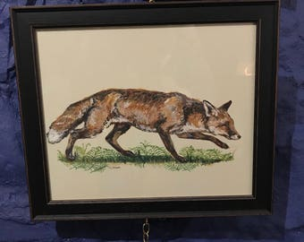 Stealthy Fox ORIGINAL Painting by Nicola Kevane
