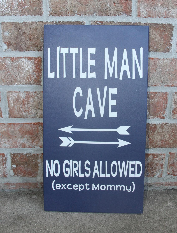 Little Man Cave Wall Art : Little man cave boys wall decor bedroom baby boy