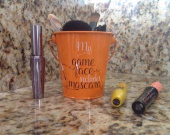 Mini Make Up Brush Bucket-Container-Holder