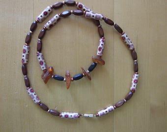 handmade beaded necklace, boho bohemian hippie