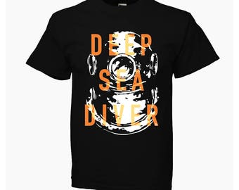 Deep sea diver BLACK KOMOA Kids T-SHIRT