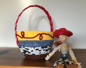 Jessie the Cowgirl Clothesline basket Disney inspired