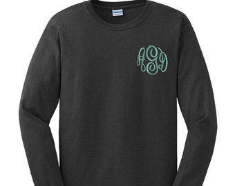 Monogram Embroidered Long Sleeve Shirt