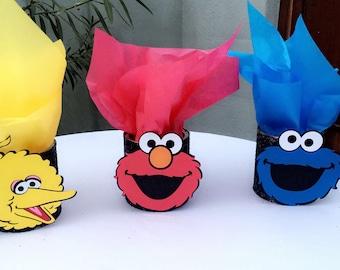 Sesame Street Centerpiece/ Elmo/ Bid Bird/ Cookie Monster