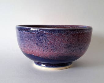 unique handmade pottery bowl, ceramic bowl, ceramics and pottery, pottery gift, fine art pottery, wheel thrown bowl, unique glaze