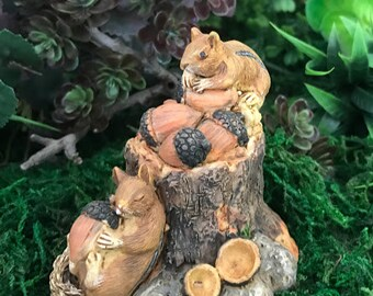 Miniature Squirrels with Acorns