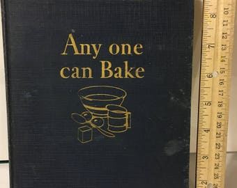 Vintage Cookbook: ANYONE CAN BAKE