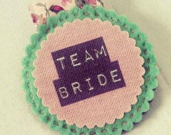 Team Bride Vintage Hen Party Badge
