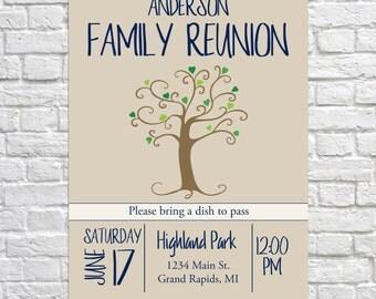 Family Reunion Invitation, Summer Family Reunion, Reunion Invitation, Family Party, Summer Party, Family Gathering, Family Tree