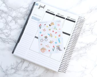 Final Sale // Blooming Lovely Decorative Planner Stickers