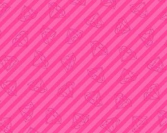 Tattooed in Gem Stripe Pink by Libs Elliot from Andover Fabrics - 1/2 yard