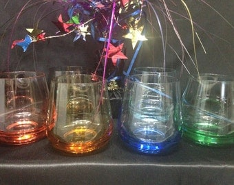 Colourful Low Ball Glasses