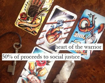 Heart of the Warrior: A 4 Card Tarot Reading for Social Justice (50% of Proceeds Benefit Social Justice Organizations)