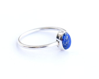 Lapis ring, Sterling Silver Ring, 925 Sterling Silver, Silver Ring