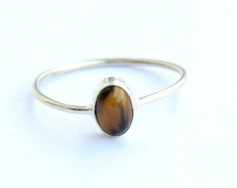Tiger eye ring, 925 Sterling Silver, Sterling Ring, Silver Ring