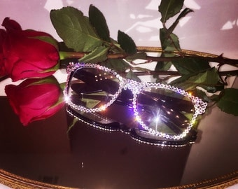 Swarovski Crystals Fashion Glasses