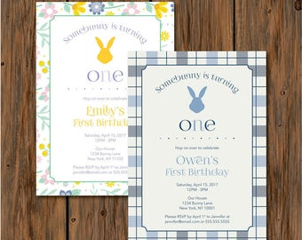 Somebunny is Turning One Invitation