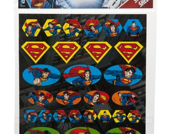 1 packs of 32 stickers  superman dc comics