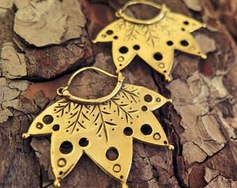 NEW!!! Tribal Brass Earrings