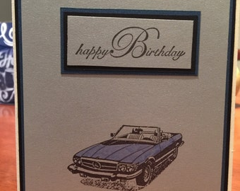 Birthday Card for Him - Mercedes Convertible