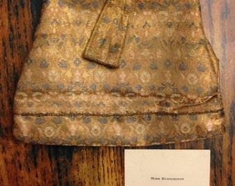 Fabulous silk evening bag with acrylic clasp