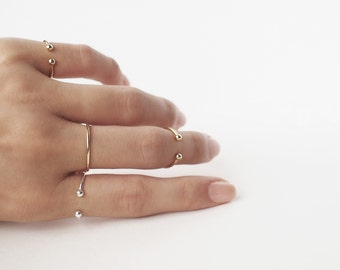 Dot cuff ring / Minimal ring / Stacking Ring / Layered Ring / Minimal Stacking Ring / Knuckle ring CR11