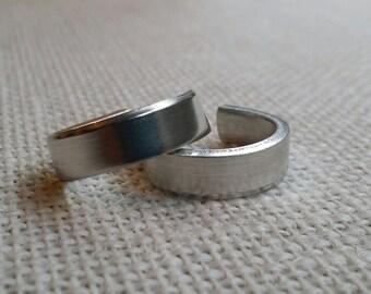 12 Polished 1/4' Ring Blanks 12 Gauge 1100 Food Safe Aluminum- FLAT