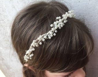 The Bride-Wedding-Wedding Wreath Tiara-Wedding Hair Accessories-Pearl-Pearl Tiara For The Bride-Bridal Wedding Accessories