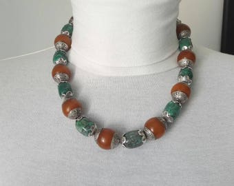 Necklace TURQUOISE and Silver 925 of Tibet