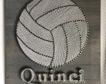 Volleyball Name Art Etsy