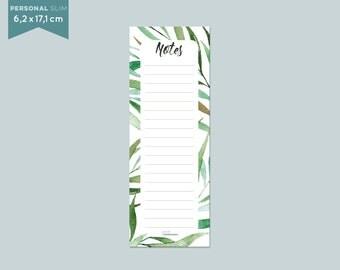 "Notepad slim ""leaves"" 6,2 x 17,1 cm - 50 sheets"