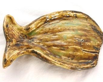 Whale Soap Dish / Fish Soap Dish / Whale Dish / Whale Spoon Holder
