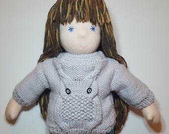 Waldorf Doll Sweater Cardigan 15-16inch doll