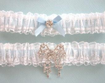 Something blue wedding garter set,  Wedding garter set,  Garters