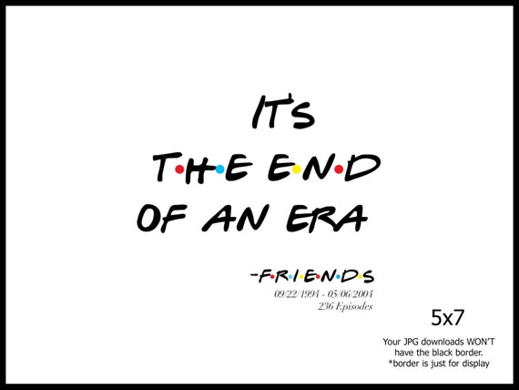 End Of An Era Quote