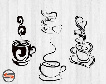 Coffee SVG, Tea svg cut files, DXF,  SVG cutting files, Instant Download, Clip art,