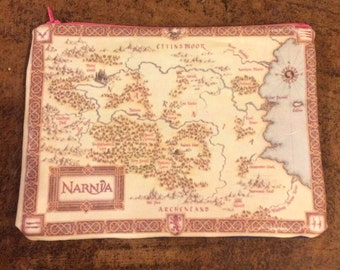 Narnia inspired zippered pouch